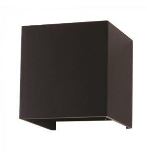 Applique Murale LED noir cube