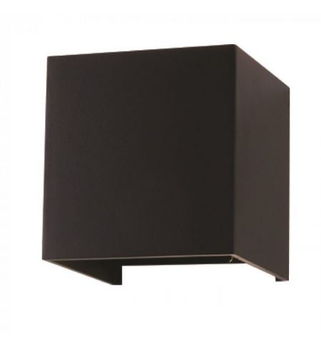 Applique Murale LED noir cube