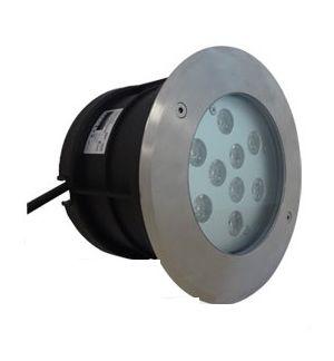 Spot LED encastre sol rond-inox 6W-9W